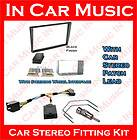 Double Din Fascia Blaupunkt Steering Wheel Adaptor Car Stereo Kit