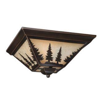 NEW 3 Light Rustic Tree Flush Mount Ceiling Lighting Fixture