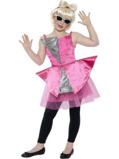 Diva Girls Lady Gaga Celebrity Childs Fancy Dress Costume XS S M L XL