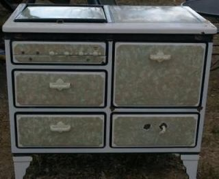 Antique authenticated gas cookstove by Detroit Vapor Stove Co. 1930s
