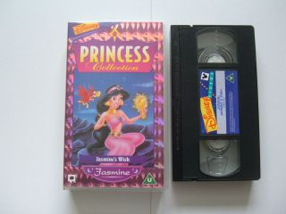 JASMINES WISH childrens Disney VHS video cassette PRINCESS