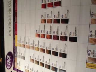 WELLA COLOR PERFECT SWATCH HAIR COLOR paper CHART sheet