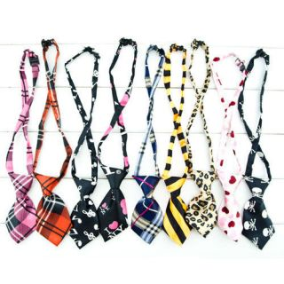 Pet Dog Cat handmade bow tie Necktie clothes Costume 7 style