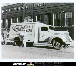 1939 Dodge Ice Cream Truck Factory Photograph