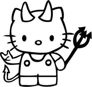 Hello Kitty Devil Kitty Rocker Car Decal Window Sticker Laptop