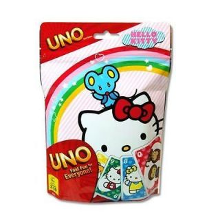 Hello Kitty Uno Card Game   Foil Wrapped Stocking Stuffer   New