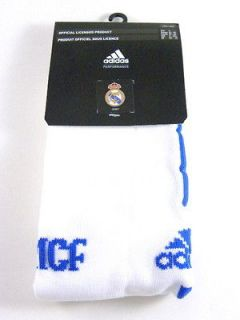 Real Madrid FC White Knee High Soccer Socks Men 4 size 9 10.5 1 Pairs