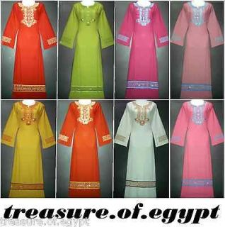 COTTON ORIENT ABAYA JILBAB DRESS KAFTAN HIJAB S M L XL 2XL 3XL 4XL