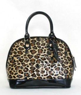 Loungefly Hello Kitty Handbag Brown Leopard Print Luggage Tote Bag