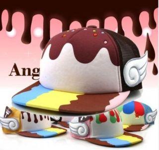 Styel   TEAM LIFE Ice Cream Hiphop Mesh Cap (4 Colors) + Free Gift