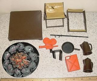VINTAGE MATTEL BIG JIM LOT OF CAMPING ACCESSORIES