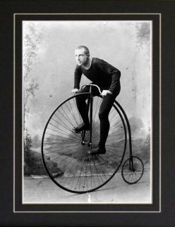 Champion Penny Farthing High Wheel Bicycle Racing Photo