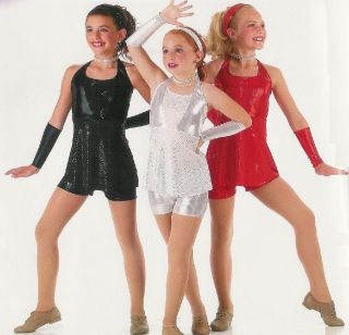GIRLS GIRLS GIRLS Jazz Tap Dance Hip Hop Costume CHOOSE SZ & COLORS