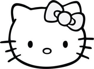 Hello Kitty Face Cute Kitty Car Decal Window Sticker Laptop