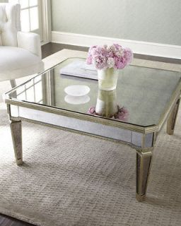 Shabby french style HORCHOW  AMELIE MIRRORED COFFEE TABLE