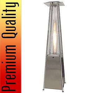 Steel Modern Pyramid Outdoor Patio Heater Propane Gas Home Commercial