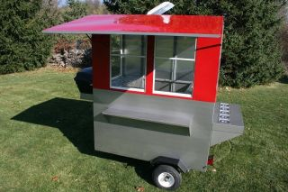 Hot dog cart enclosed vending concession trailer stand Genie Weenie