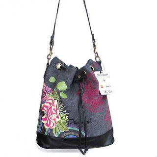 New DESIGUAL Womens Floral Hobo Handbags Shoulder Bag 28*5153 54