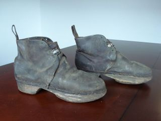 Vintage Antique 1900s Mens Horse Stable Stall Leather Riding Boots