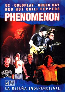 GREEN DAY   RED HOT CHILI PEPPERS  PHENOMENON 4 DVD BOX SET LIVE