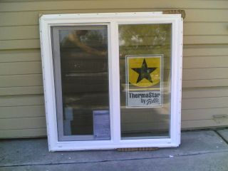 BRAND NEW Nice White VINYL House SLIDER WINDOW 36x36 (with nailing