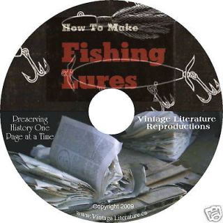 How To Make Fishing Lures   Catch Fish   8 Books on CD