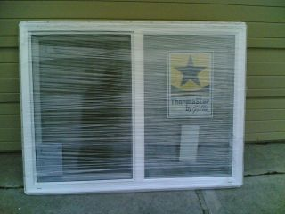 BRAND NEW Big White VINYL House SLIDER WINDOW 48W x 36H (has