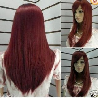 red human hair wigs in Womens Wigs