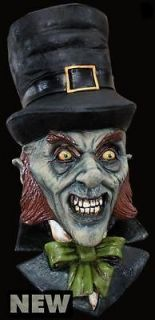 Evil Leprechaun Latex Horror Mask Adult Halloween Costume Accessory