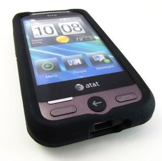 BLACK SOFT RUBBER SILICONE GEL SKIN CASE COVER HTC FREESTYLE PHONE