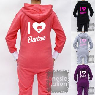 Onesie Nation Barbie All in One Ladies Womens Girls T Shirt Hoodie