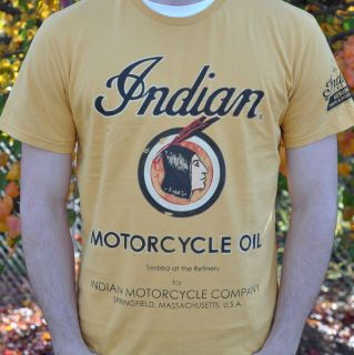vintage indian motorcycle shirt in Clothing,