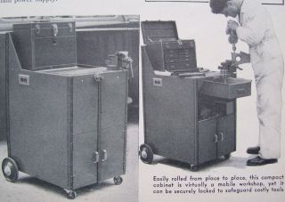 How to Build MECHANICS ROLLING METAL TOOL BOX CHEST CABINET 1941 DIY