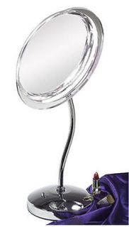 Light 7X Magnification S Neck Lighted Vanity Makeup Mirror SL37