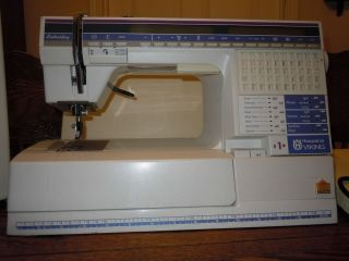 Husqvarna #1 embroidery and sewing machine, embroidery software