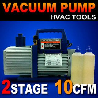 1HP Vacuum Pump 10CFM Rotary Vane Deep HVAC Tool AC R410a R134 R22