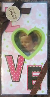 CARTERS LITTLE GIFTABLES BABY GIRL LOVE PICTURE FRAME PERFECT GIFT