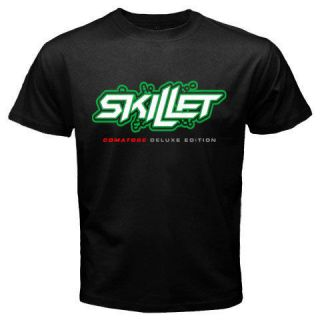 SKILLET Alternative Rock Band Mens Black T Shirt Size S 2XL