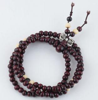 rosewood Buddhist Buddha Meditation 6mm x 108 Prayer Beads Mala