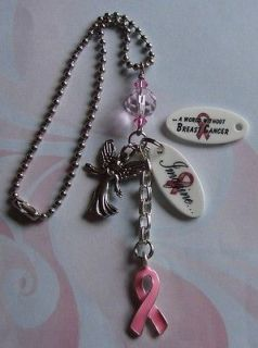 Breast Cancer Awareness IMAGINE Rearview Mirror Charm
