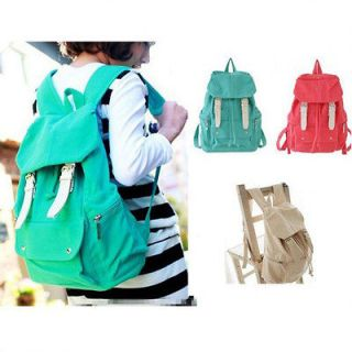 Girl Casual Punk Cute Canvas Shoulder Bag Backpack Satchel School Book