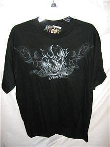 MIAMI INK SKULL T SHIRT SIZE LARGE NWT