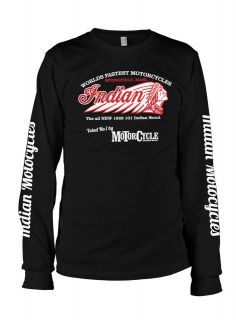 Indian Motorcycles Scout 101 vintage retro LS t shirt