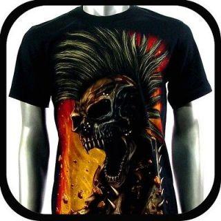 Rock Eagle T Shirt Biker Indie Tattoo RE102 Sz L Graffiti Skull Glow