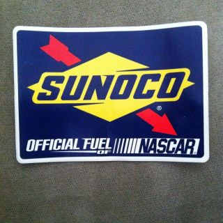 Sunoco Official Fuel of NASCAR Racing Sticker Decal   Great