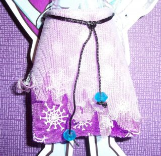 MONSTER HIGH ABBY BOMINABLE DOLL FASHION PAC LAVENDER SKIRT NEW