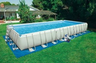 INTEX 32 x 16 x 52 Ultra Frame Rectangular Swimming Pool Set
