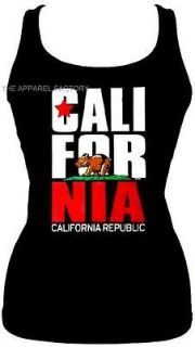 NEW CALIFORNIA REPUBLIC Bear Tank Top Shirt LA S M L XL 2XL 3XL Free
