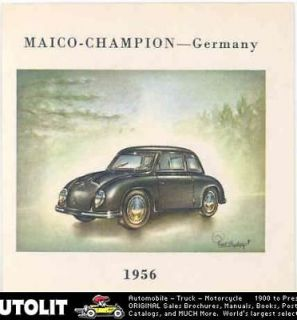 1956 Maico Microcar Champion MC400/4 Cigarette Card