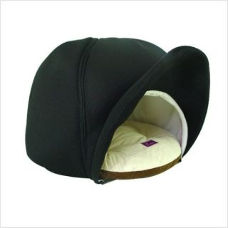 INDOOR PET DOG CAT CUSHION BED HOUSE CAP SHAPE ~BLACK